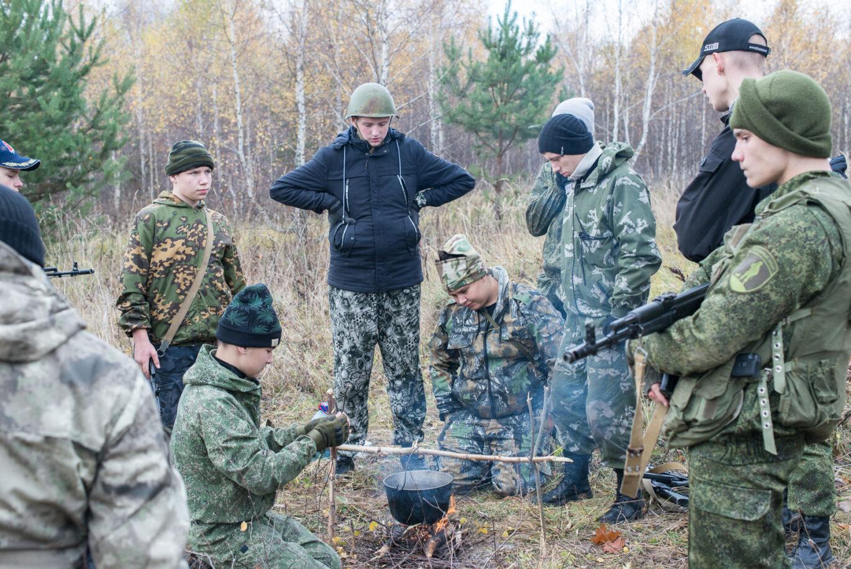 Военные учения и строевая подготовка в ДРП